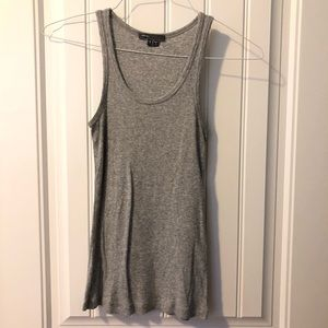Vince gray ribbed tank top size S